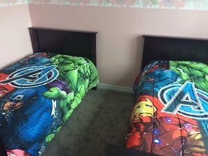 2 avengers twin comforters