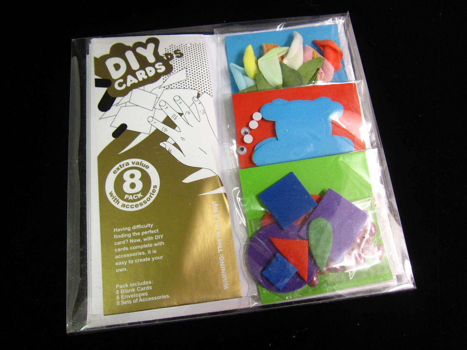 diy card making craft kit set of 8 blank cards envelopes