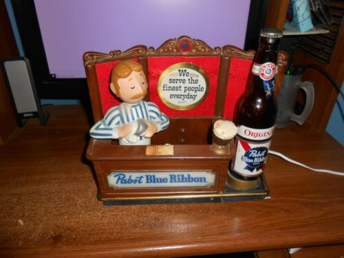 VINTAGE PABST BLUE RIBBON BARTENDER LIGHT GREAT WOKING CONDITION METAL FREE SHIP
