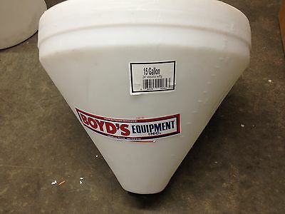 15 Gallon Cone Bottom Tank Only 24 X 21 No Stand