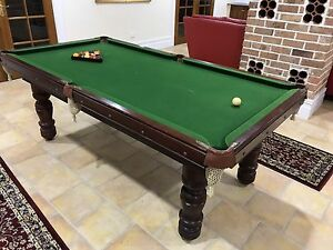 Slate pool table with balls and cues 7ft Burwood Burwood Area Preview