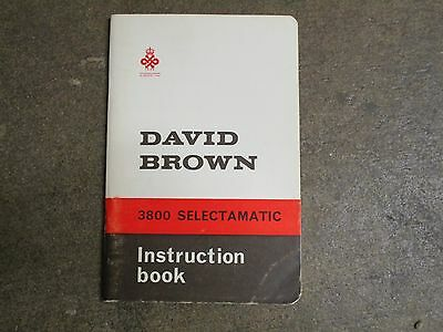 David Brown Case 3800 Tractor Owners Maintenance Manual