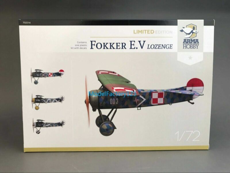 Arma Hobby 70014 1/72 Fokker E.V Lozenge Limited Edition set Model Kit