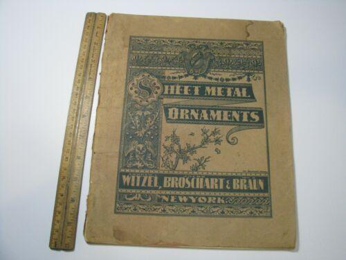 Vintage Sheet Metal Ornaments Witzel Broschart Braun Catalog Moldings Rosettes