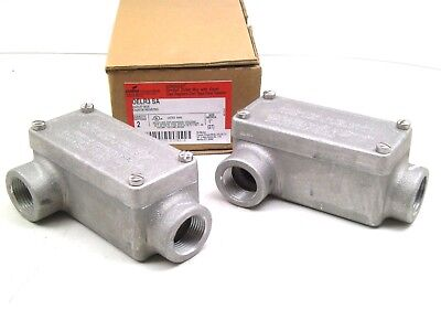 2 Crouse-hinds Explosion Proof 1 Oelr3 Sa Lr Lb Iron Conduit Bodies W Cover