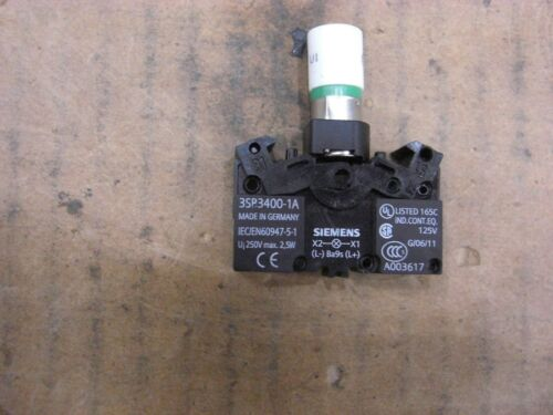 Siemens Lamp Holder 3SB3400-1A, Mounting BA 9s, 250 VAC/DC