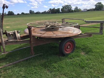 Wanted: 4 inch irrigation hose trailer lay flat