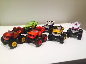 Blaze and the monster machines! Set of SIX die-cast Trucks