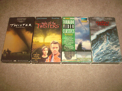 Tornado VHS LOT Night of the Twisters Twister The Perfect Storm Video Classics