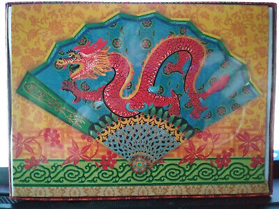 Box of 18 Victorian Gifted Line Punch Studio Christmas Cards Chinese Dragon NEW ()