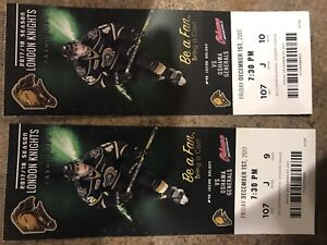 London knights tickets for Dec 1st