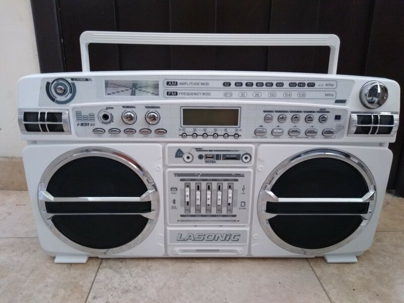 LASONIC BLUETOOTH BOOMBOX GHETTOBLASTER I-931 BT
