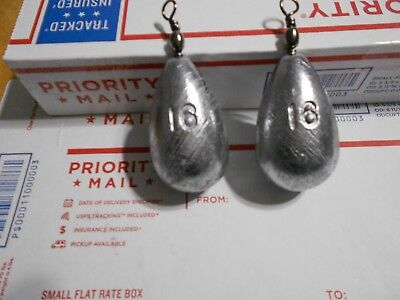 14 - 16 OZ HANDMADE LEAD BELL SINKERS WITH SWIVEL EYES FROM A (16 Ounce Bell)