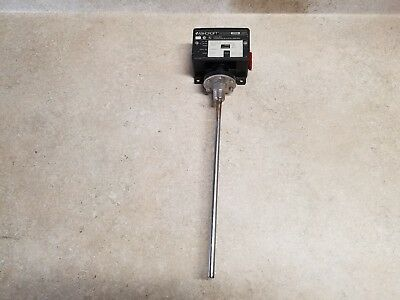 "USED ASHCROFT 3/4""female NPT 12"" stem T425TS120-XFS Temp. Reg. Switch, 75-205F"