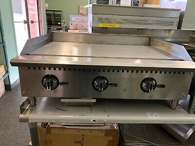 36 Commercial Gas Thermostatic Control Griddle Grill Flat Top Brand New