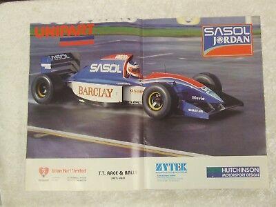 Sasol Jordan Unipart   Formula Renault Advert Poster Ready To Frame C