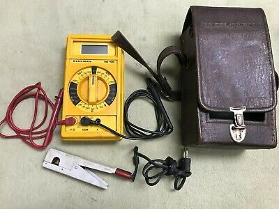 Beckman Digital Multimeter Model Hd 110 Rare With Nice Case Ac Clamp Ct-231