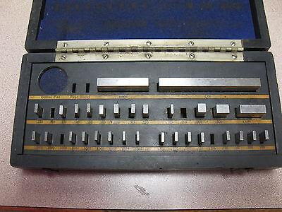 Vintage Gage Block Set Geo. Scherr Co. 34 Pc Ultra Chex Inspectoset Used.