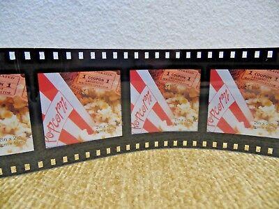 "Movie Strip Hollywood Studio Director Media Room Film Frame 5 Pictures 2""x2"""