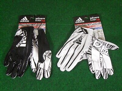 New Adidas Adizero 5 Star 7.0 Football Gloves Tacky Receiver Skill White Black ()