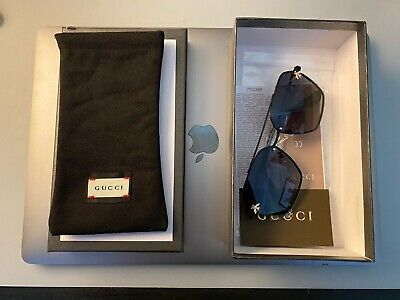 GENUINE GUCCI GLASSES IN BOX WITH ORIGINAL WRAPPING, WALLET CASE AND SHOP CARD