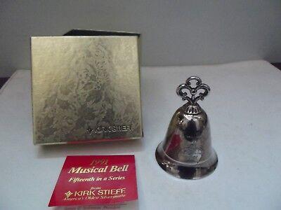 (v97) Kirk Stieff Musical Bell 1991  Tischglocke / Spieluhr Metall versilbert