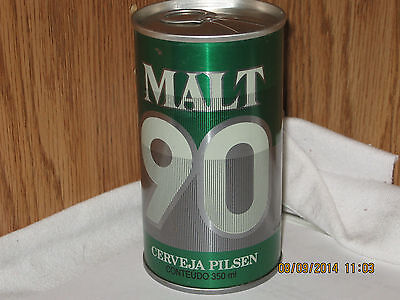 Malt 90 Cerveja Pilsen Brasileira Cervejaria Brahma Brazil  350 ml beer can pt