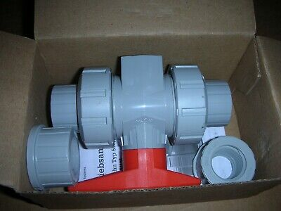 Georg Fischer Gf 163546352 Cpvc Ball Valve With Mounting Inserts 12 Dn15 New