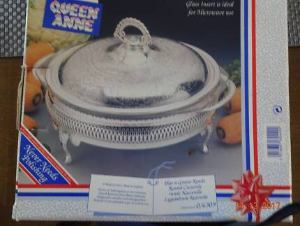Queen Anne Silver Plated Tableware Casserole Dishes + Candelabra