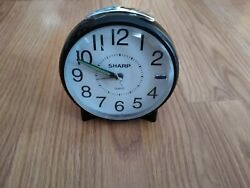 Sharp SPC830 Quartz Backlight Analog Alarm Clock