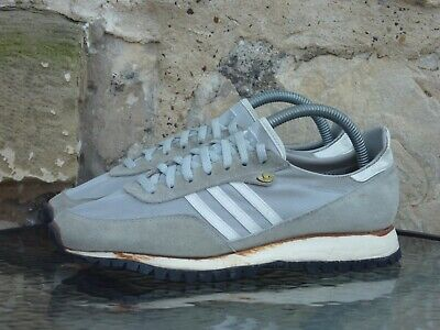 Vintage 1985 Adidas Lady New York UK 7 Made In USA Grey White OG 80s 1980s