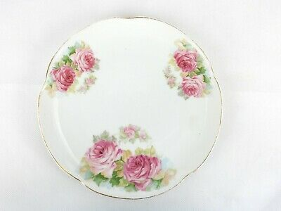 Vintage Collector Decorator Plate, Rose Clusters,