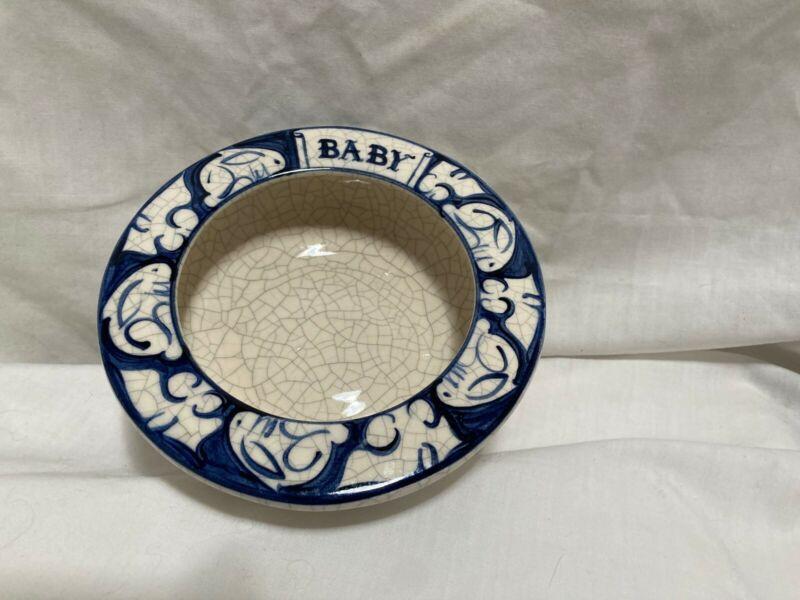 "Vintage Dedham Rabbit ""baby"" bowl. 1992. Signed. 2"" tall x 5 7/8"" tall."