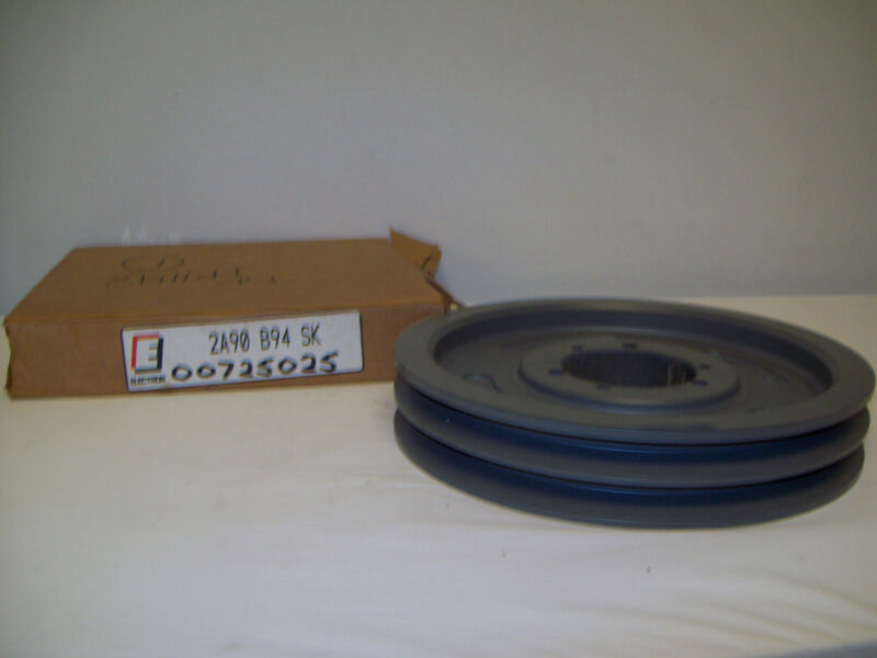 "ELECTRON DOUBLE V-BELT PULLEY SHEAVE  2A90B94SK (9 3/4"")  9.75"" OD X 2.7980 ID"