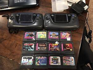 2x sega game gears with 12 games
