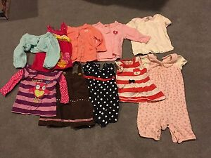 Big box of size 3-6 month baby clothes