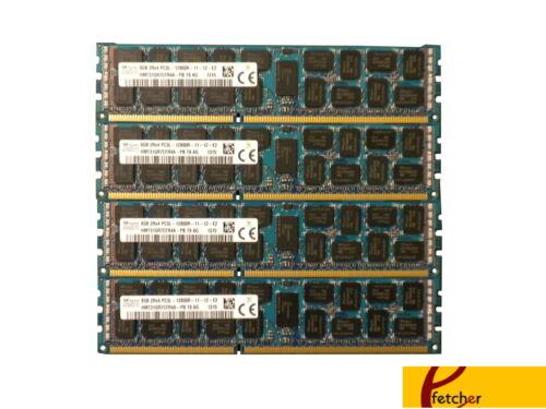 32GB (4X8GB) DDR3 1600 PC3-12800 ECC REGISTERER 240-PIN Memory for Servers & WS