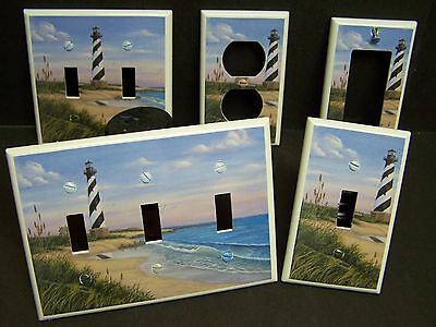 Lighthouse Light Switch Covers - CAPE HATTERAS LIGHTHOUSE  #1   LIGHT SWITCH COVER OR OUTLET COVER MULTIPLE SIZES