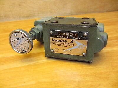 Double A Hydraulic Valve Wap-01-10b1 1000psi Circuit Stak