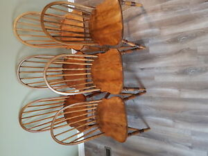 Antique Windsor back chairs