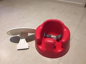 Red Bumbo Baby Seat with Tray and Safety Belts Berwick Casey Area Preview