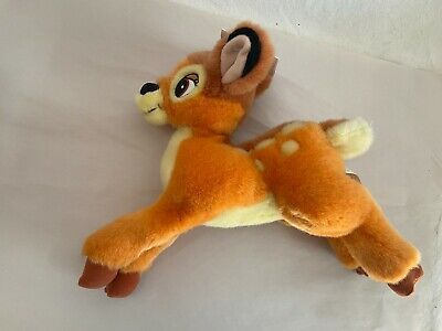 "Disney Store Bambi Plush Deer Soft Floppy Stuffed Animal Toy 11"" Long Plush"