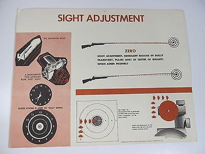 "Vintage Gun Sight Adjustment Target Training NRA Hunting Safety Poster 22"" x 17"""