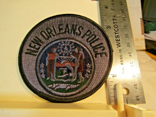 New Orleans Police subdued gray black patch NOS LA Louisiana