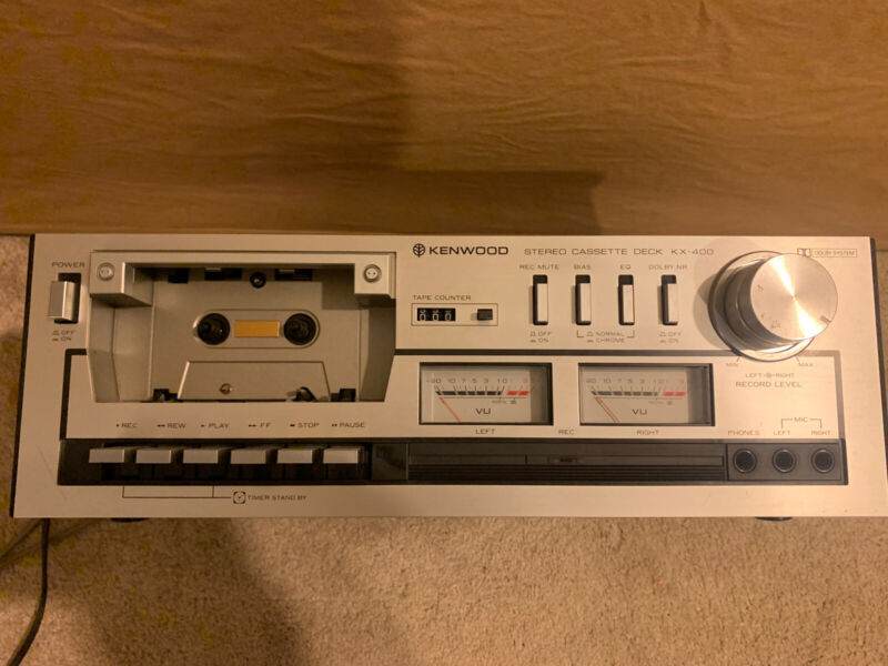 Kenwood Model # KX-400 Vintage Dolby Stereo Cassette Deck In Excellent Condition