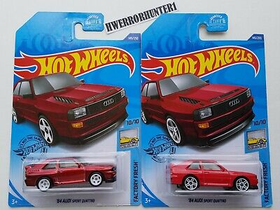 2020 Hot Wheels '84 Audi Sport Quattro Super Treasure Hunt Lot H Case US Cards
