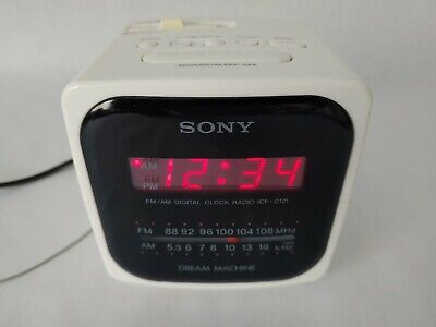 Sony Dream Machine ICF-C121 Alarm Clock AM FM Radio Snooze Sleep Vintage Tested