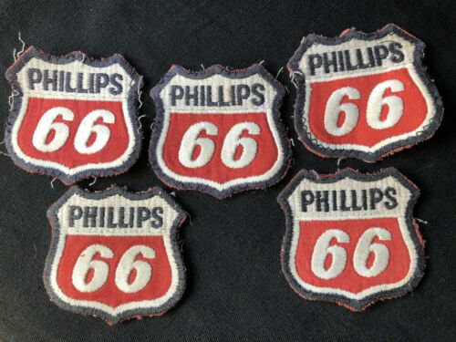 Lot of 6 Vintage Phillips 66 Gas Oil Petroleum Advertising Embroidered Patches