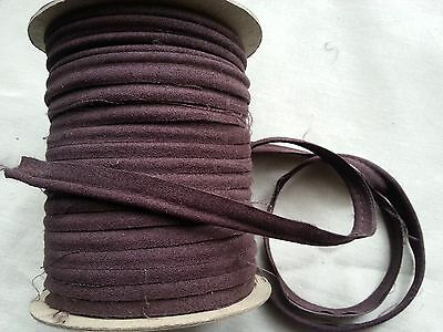 2 Meters Faux Suede Brown Insertion Flanged Rope Piping Upholstery 8mm Wide