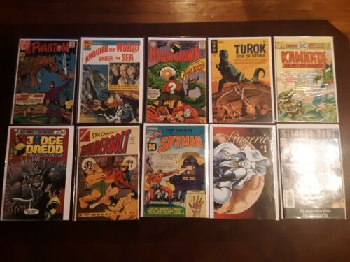Lot of 1960s & 1970s Sci-Fi & Horror Comics Around The World Under The Sea #1 DC
